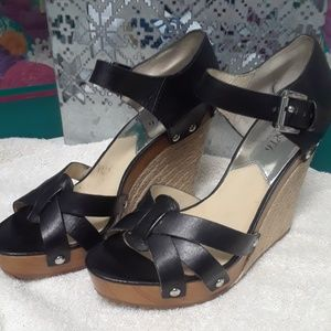 Michael Kors Jet Set 6 Wedge Sandals 9.5